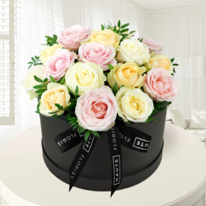 Avalanche Affection - Hat Box Flowers - Flowers in a Hat Box - Luxury Flowers - Birthday Gifts